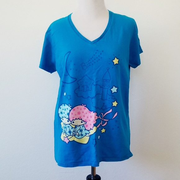 Loot Crate Tops - Loot Crate Exclusive Sanrio Twin Stars V-Neck Tee